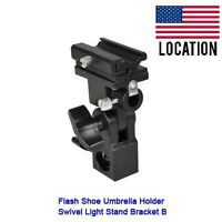 Screw Flash Shoe Umbrella Holder Swivel Light Stand Bracket B
