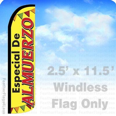 Especial De Almuerzo - Windless Swooper Flag Feather Banner Sign 2.5x11.5 Yz