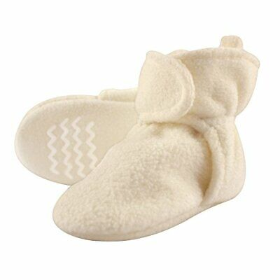 Hudson Baby Baby Cozy Fleece Booties with Non Skid Bottom, C