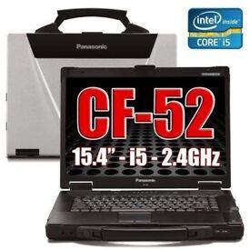 lot of x10 Panasonic Cf-52 Toughbook Laptop 8Gb 250 GB Windows 10 32/64 Bit Rugged.