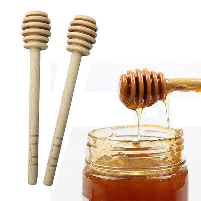 2Pcs Wooden Honey Dipper Wooden Stick Spoon Dip Drizzler Server 160mm Long Tool