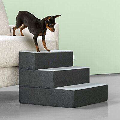 Zinus PS-C2115C Easy Pet Stairs/Pet Ramp/Pet Ladder, Small, Grey