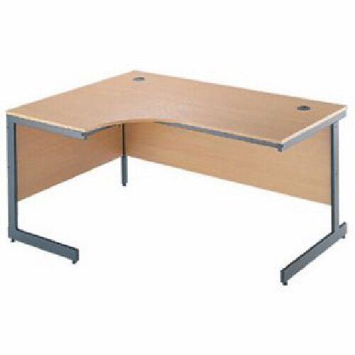 1x Solid Oak Large Corner Desk Office Home PC Workstation - Left Sided