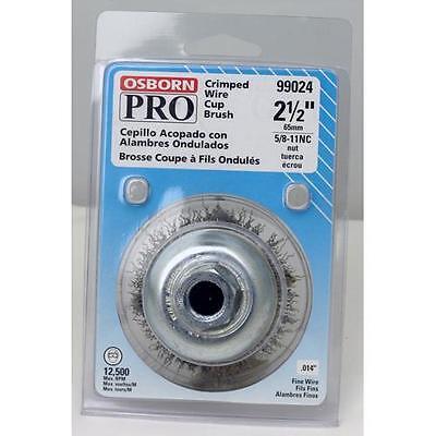 "PFERD 82523P P.O.P 5//8-11 Thread 9000rpm 4/"" Knot Wire Cup Brush .023 CS Wire"