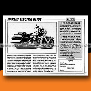 HARLEY DAVIDSON 1340 ELECTRA GLIDE 1988 Essai Moto Original Road Test #A1052 - France - État : Trs bon état: Livre qui ne semble pas neuf, ayant déj été lu, mais qui est toujours en excellent état. La couverture ne présente aucun dommage apparent. Pour les couvertures rigides, la jaquette (si applicable) est incluse. Aucune p - France