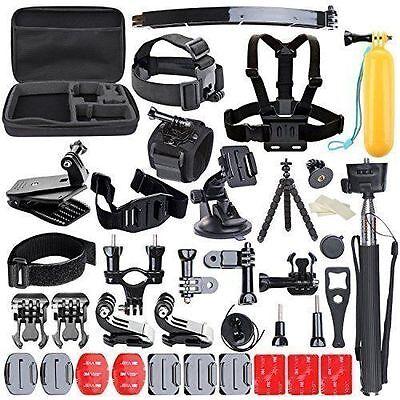 50 pcs Accessories Set Kit for GoPro Hero 1 2 3 3+ 4 SJCAM Head Chest Strap Pole