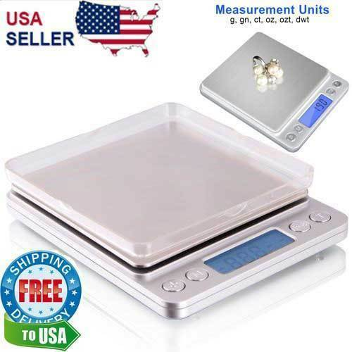 Digital Scale 3000g x 0.1g Jewelry Gold Silver Coin Gram Pocket Size Herb Grain Jewelry & Watches