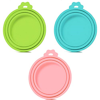 3 Pack Pet Food Can Cover Universal Silicone Cat Dog Food Can Lids BPA Free