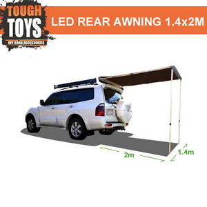 Tough-Rear-Awning-1-4mx2m-4wd-Shade-Roof-Rack-Off-Road-4x4-Accessories-Pull-Out