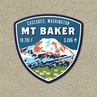 Mt. Baker Cascades Mountain Decal Sticker