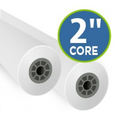 2 Rolls 24x300 20lb Bond Cad Plotter Paper Inkjet 2 Core 92 Bright White
