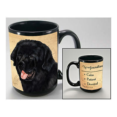 Newfoundland Newfie Faithful Friends Dog Breed 15oz Coffee Mug Cup