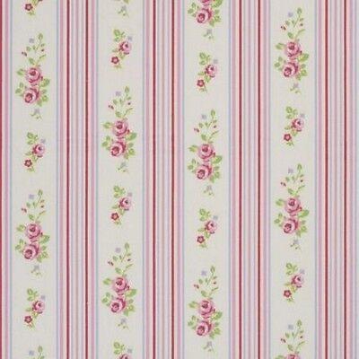 Floral Chintz (Clarke and Clarke Floral Stripe Chintz Fabric 137cm/ 54