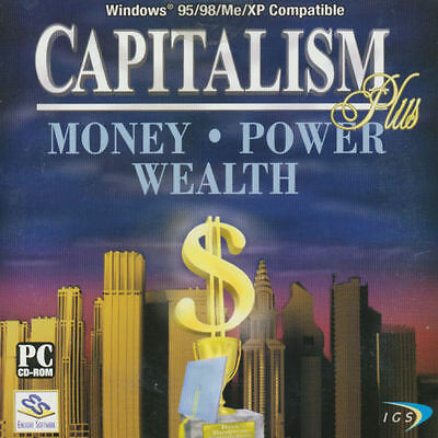 Capitalism Plus Win95 Xp Strategy Business Tycoon For Windows Pc Game New