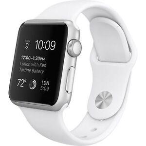 Apple Watch Sport 38mm Aluminum Case White Sport Band - (MJ2T2LL/A)