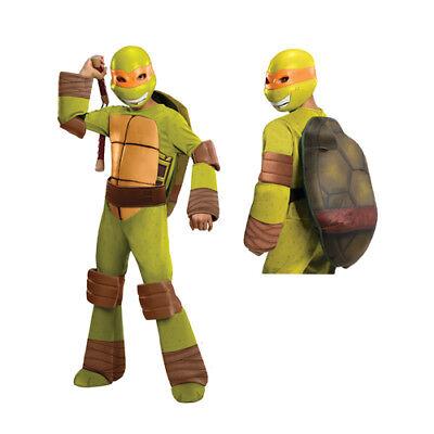 Michael Angelo Costume (Boys Deluxe Michaelangelo Turtles Halloween)