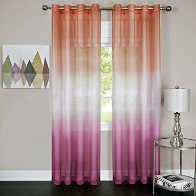 Achim Home Furnishings Rainbow Grommet Window Curtain Panel 52 By 84 Pink...