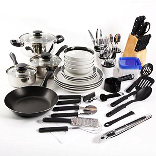 Essential Home Total Kitchen Cookware Utensil 83 Pc Combo Se