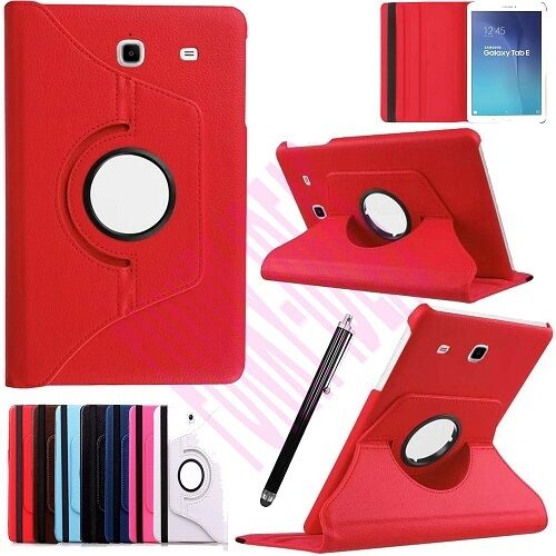 360 Rotation Leather Case Stand Cover For Samsung Galaxy Tab E 9.6