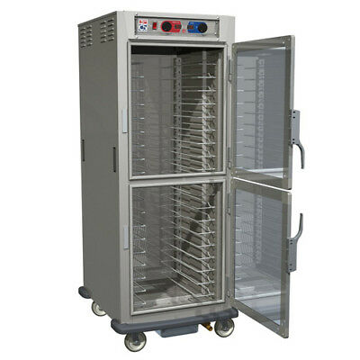 Heated Holding Cabinet - Controlled Humidity Full Height Clear Dutch Doors