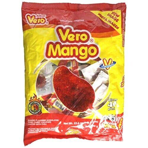 Paletas Vero Mango - 40 pieces package Mexican Candy Dulces Mexicanos