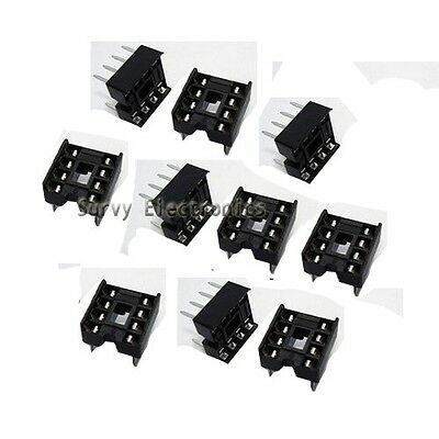 20 Pcs New 8 Pin Dip Ic Sockets Adaptor Solder Type