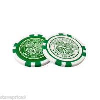 Celtic 2 Poker Chip Golf Ball Markers In Gift Set - premier licensing - ebay.co.uk