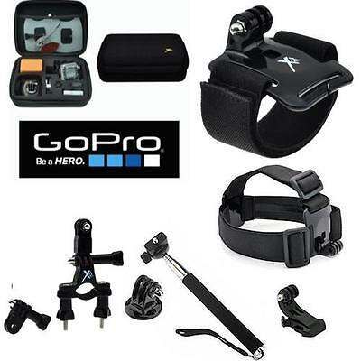 Cold CASE FOR GOPRO HERO5 HERO 5 SESSION BLACK+ MOTORCYCLE MOUNT + ACCESSORIES