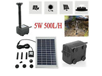 Solar Water Pump for Fountain Pool Garden Pond Square 500L/H 5W