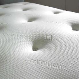 BZAMS 3ft, 4ft, 4ft6, 5ft, 6ft One Side Memory Foam Top / Other Side 1500 Pocket Sprung Mattress