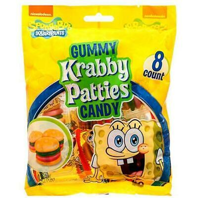 Gummy Krabby Patty (Spongebob Squarepants Gummy Krabby Patties Candy Lot of 2 / 2.54 oz.)