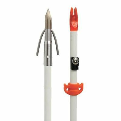 AMS Bowfishing Arrow Fiberglass Chaos Point Arrow w AMS Safety Slide #20300