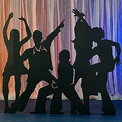 DISCO PARTY SILHOUETTES * seventies * 70's disco theme party decorations *boogie - 70s Theme Party Decorations