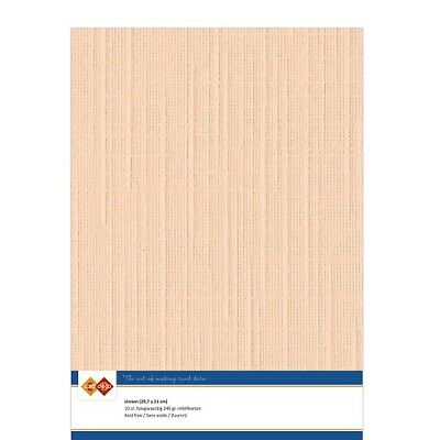 (EUR 4,81/m²) Leinenkarton 10xA4-Bogen zalm 09