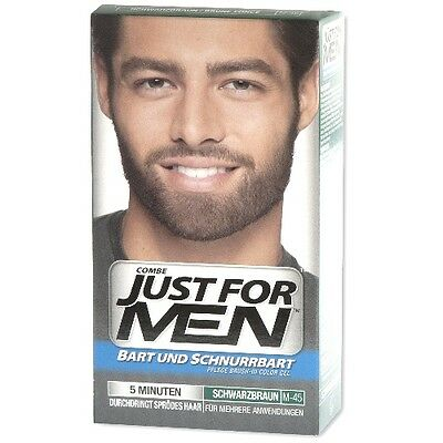 Just for Men Brush-In-Color-Gel für Bart&Schnurrbart Gel Pflege schwarzbraun