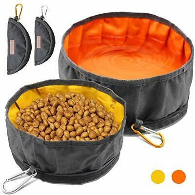 LumoLeaf Collapsible Dog Travel Bowls, Large Lightweight Foldable Bowl, Water an