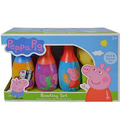 Peppa Pig Bowling Set Toy Game Kids Birthday Gift Toy 6 Pins  1 Ball