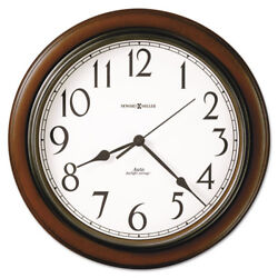 Talon Auto Daylight-Savings Wall Clock, 15 1/4, Cherry