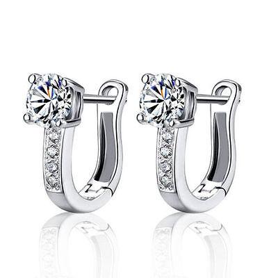 Cheap White Plates (Silver Plated Hoop Earrings Cheap Gemstone Jewelry Earring Fashion White Women)
