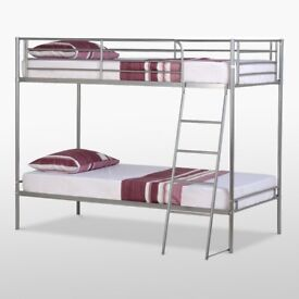 METAL BUNK BEDS WITH MATTRESSES INCLUDED
