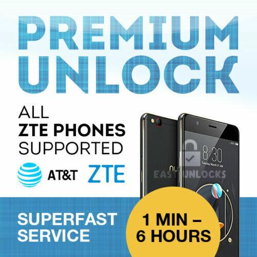 FACTORY UNLOCK SERVICE AT&T CODE ZTE FOR MAVEN Z831 Z812 ZMAX 2 Z958 Z222 Z998