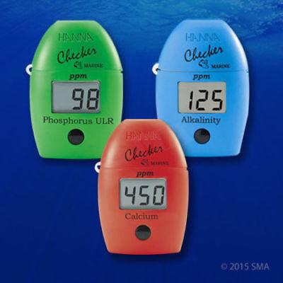 HANNA Checker Marine Phosphorus Alkalinity Calcium Colorimeter and (Calcium Refill)