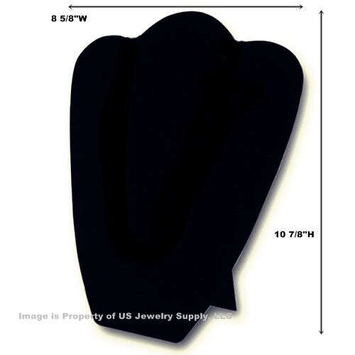 "6 Black Leatherette Necklace Pendant Easel Back Displays 8 5/8""W x 10 7/8""H"