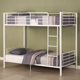 BIG SALE NOW ON -- BRAND NEW Single Metal Bunk Bed with Mattress - SAME/NEXT DAY DELIVERY!
