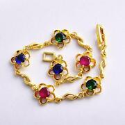 Ruby Emerald Sapphire Bracelet
