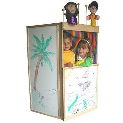 BEKA CLUBHOUSE KIDS' PLAYHOUSE DRY ERASE MARKER BOARD SURFACES & PUPPET RACK NEW