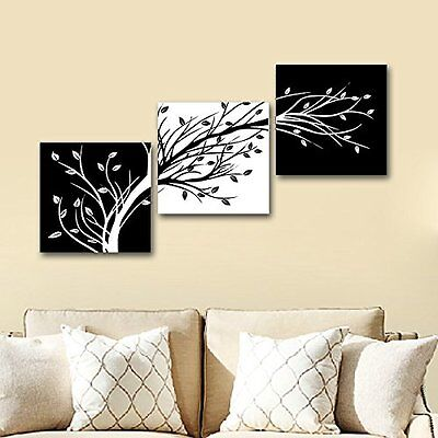 Modern Canvas Home Wall Decor Art Painting Picture Print Abstract 3 Piece Leaves