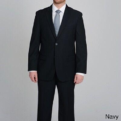 Caravelli Men's 2-button Tonal Stripe Suit NAVY  36 R 30 W NEW