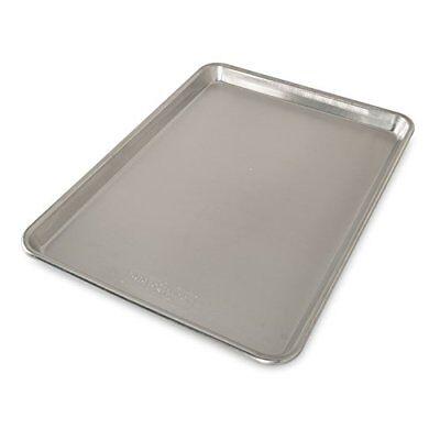 Natural Aluminum Commercial Baker Half Sheet Bakeware Pan Cookie Kitchen Baking