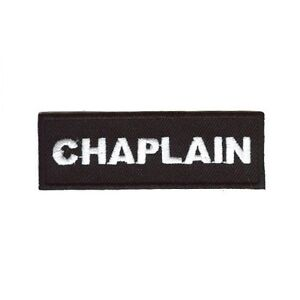 CHAPLAIN PATCH WHIT ON BLACK